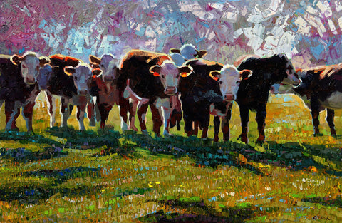 Morning Cattle -  Robert Moore - McGaw Graphics