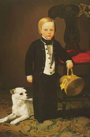 Boy with Dog -  Charles Christian Nahl - McGaw Graphics