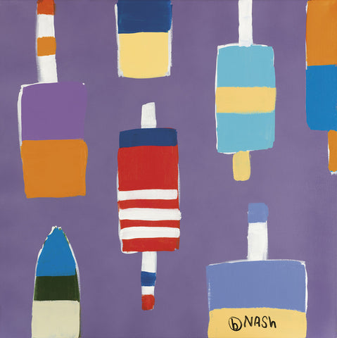 Brian Nash - Buoys Purple