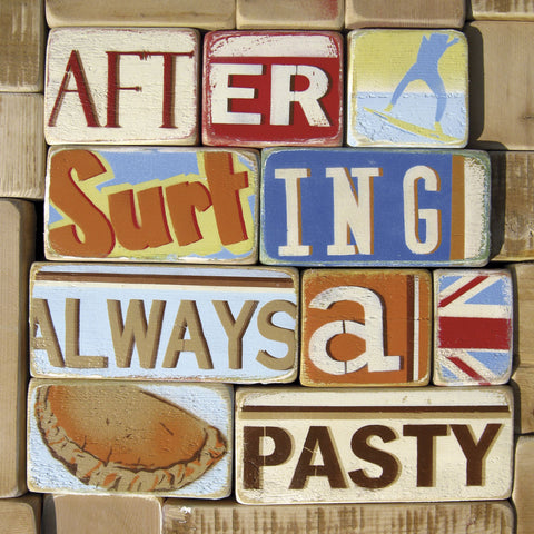 After Surfing Always a Pasty -  Norfolk Boy - McGaw Graphics