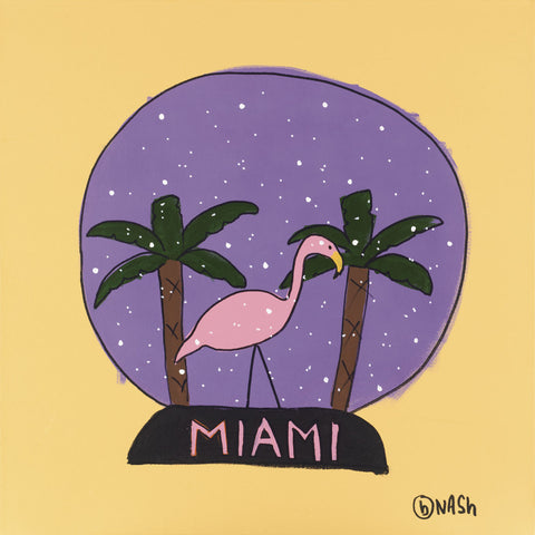 Miami Snow Globe -  Brian Nash - McGaw Graphics