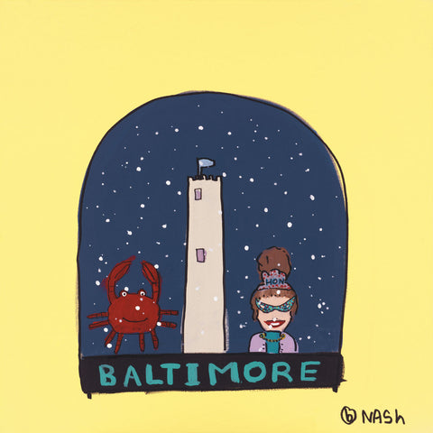 Brian Nash - Baltimore Snow Globe