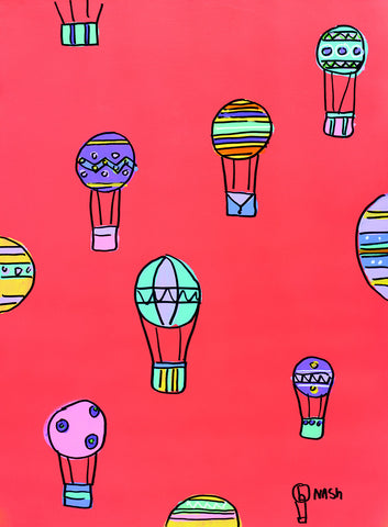 Brian Nash - Balloons - Red