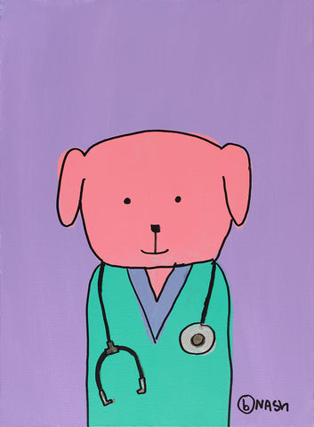 Pink Dog Doc -  Brian Nash - McGaw Graphics