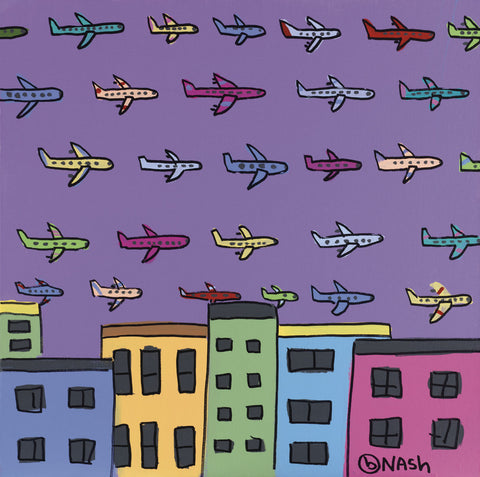 Horizon with Planes -  Brian Nash - McGaw Graphics