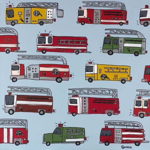 Fire Trucks -  Brian Nash - McGaw Graphics