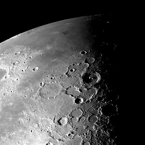 Moon (North Pole) -  NASA - McGaw Graphics
