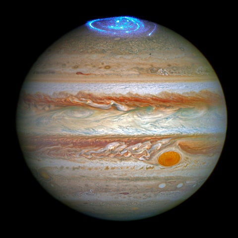 Jupiter with Auroras -  NASA - McGaw Graphics