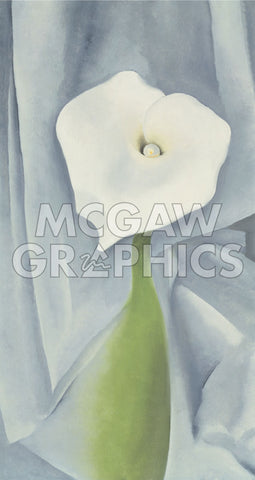 Calla Lily on Grey, 1928 -  Georgia O'Keeffe - McGaw Graphics