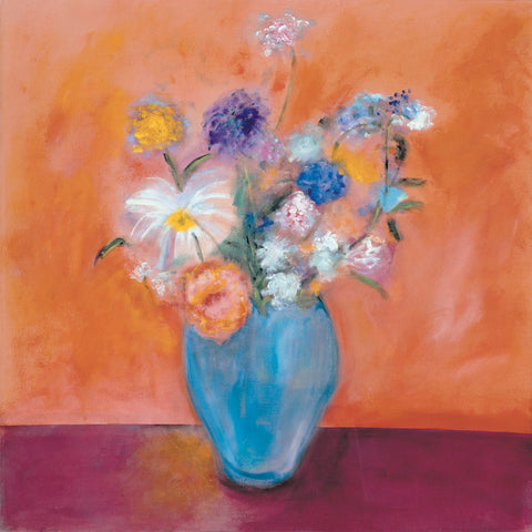 Nancy Ortenstone - Blue Vase with Flowers