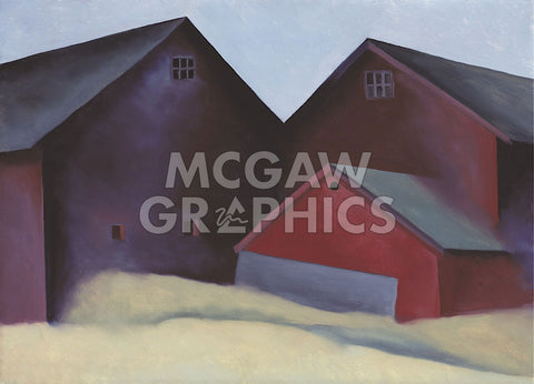 Ends of Barns, 1922 -  Georgia O'Keeffe - McGaw Graphics