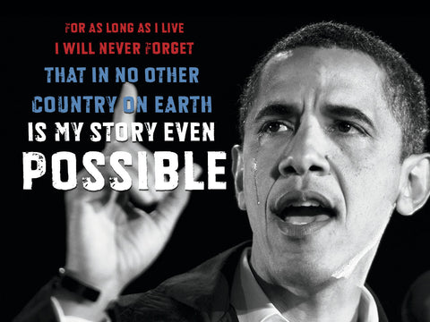 Barack Obama: For As Long As I Live... -  Celebrity Photography - McGaw Graphics
