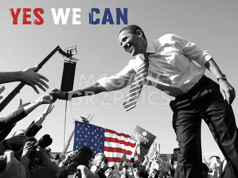 Barack Obama: Yes We Can (crowd) -  Celebrity Photography - McGaw Graphics