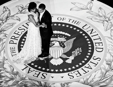 Celebrity Photography - President Obama and The First Lady (b/w)