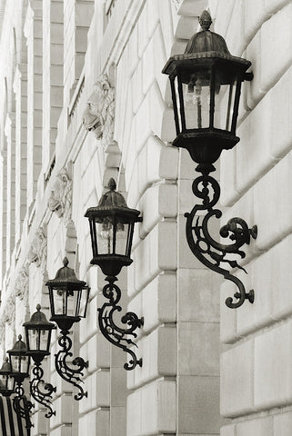 Lamps on Side of Building -  Christian Peacock - McGaw Graphics