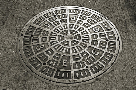 San Francisco Manhole Cover -  Christian Peacock - McGaw Graphics