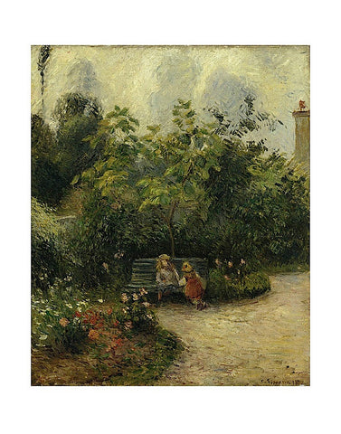 Corner of a Garden at the Hermitage, 1877 -  Camille Pissarro - McGaw Graphics