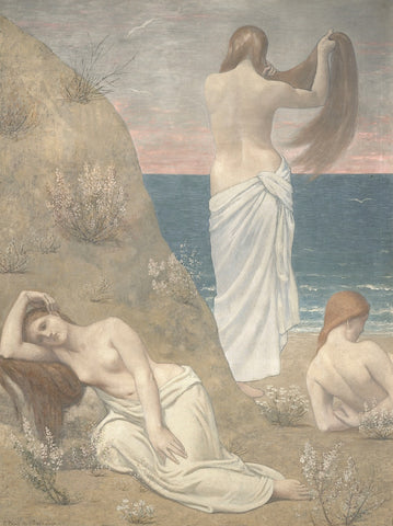 Young Women at the Sea Shore (petite version) -  Pierre Puvis de Chavannes - McGaw Graphics