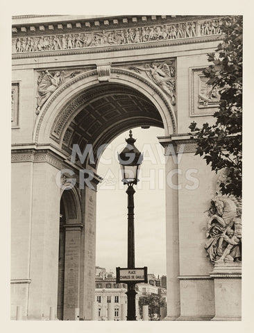 Christian Peacock - Lamp and Arc de Triomphe
