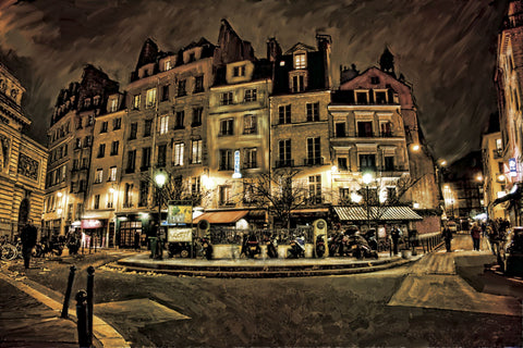 Dawne Polis - Paris Street Night