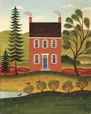 House and Lake -  Diane Ulmer Pedersen - McGaw Graphics