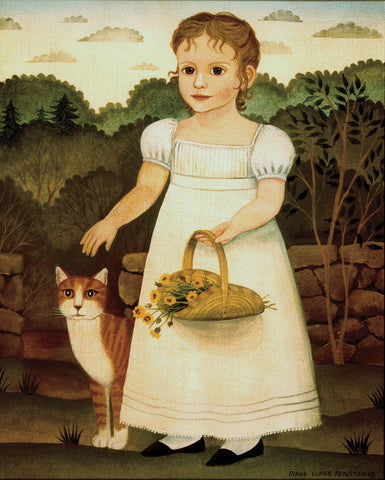 Girl with Cat -  Diane Ulmer Pedersen - McGaw Graphics