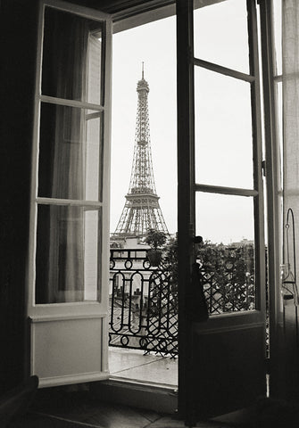 Christian Peacock - Eiffel Tower through French Doors