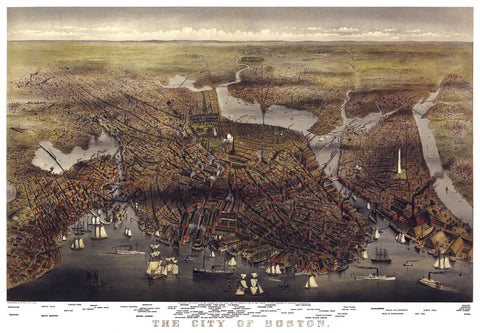 The City of Boston, Massachusetts, 1873 -  Parsons and Atwater - McGaw Graphics