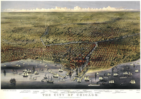 The City of Chicago, Illinois, 1874 -  Parsons and Atwater - McGaw Graphics
