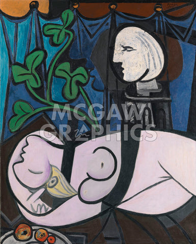 Nude, Green Leaves and Bust, 1932 -  Pablo Picasso - McGaw Graphics