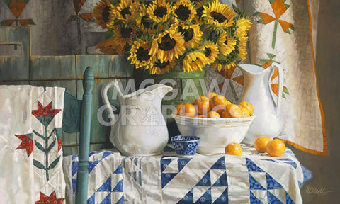 Heide Presse - Calico with Sunflowers