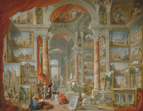 Picture Gallery with Views of Modern Rome, 1757 -  Giovanni Paolo Pannini - McGaw Graphics