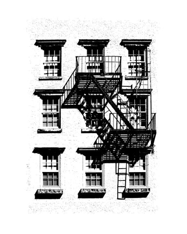 West Village Fire Escape 1937 -  Jeff Pica - McGaw Graphics