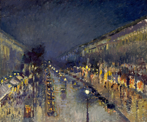 The Boulevard Montmartre at Night, 1897 -  Camille Pissarro - McGaw Graphics