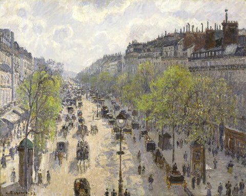 Boulevard Montmartre, Spring, 1897 -  Camille Pissarro - McGaw Graphics