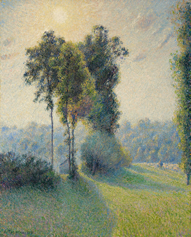 Landscape at Saint-Charles, near Gisors, Sunset, 1891 -  Camille Pissarro - McGaw Graphics