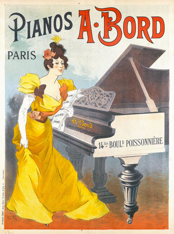 Pianos A. Bord Paris -  Rene Pean - McGaw Graphics