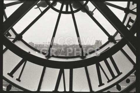 Clockface at the Musee d'Orsay -  Christian Peacock - McGaw Graphics