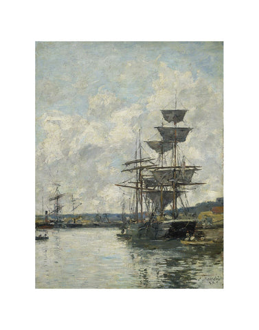 Ships at Le Havre -  Eugène Louis Boudin - McGaw Graphics