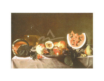 Still Life with Fruit and Carafe -  Carlo Saraceni - McGaw Graphics