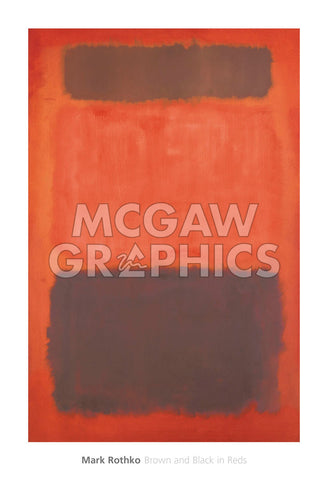 Brown and Black in Reds, 1957 -  Mark Rothko - McGaw Graphics