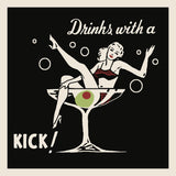 Drinks with a Kick -  Retro Series - McGaw Graphics