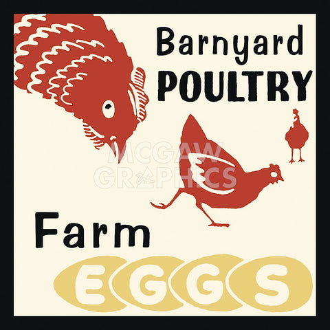Retro Series - Barnyard Poultry-Farm Eggs