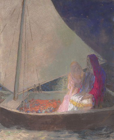 Odilon Redon - The Barque, c. 1902