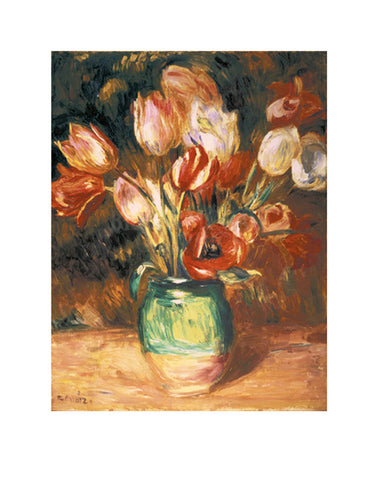 Tulips in a Vase -  Pierre-Auguste Renoir - McGaw Graphics