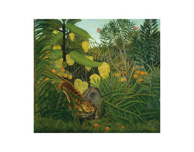 The Fight Between a Tiger and Buffalo, 1908 -  Henri Rousseau - McGaw Graphics