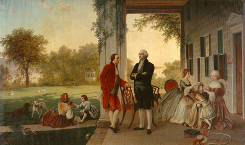 Washington and Lafayette at Mount Vernon, 1784, 1859 -  Rossiter & Mignot - McGaw Graphics