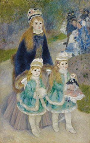 Mother and Children (La Promenade), from 1874 until 1876 -  Pierre-Auguste Renoir - McGaw Graphics