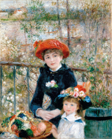 The Two Sisters on the Terrace, 1881 -  Pierre-Auguste Renoir - McGaw Graphics