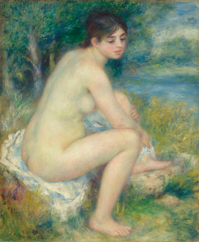 Nude in a Landscape, 1883 -  Pierre-Auguste Renoir - McGaw Graphics